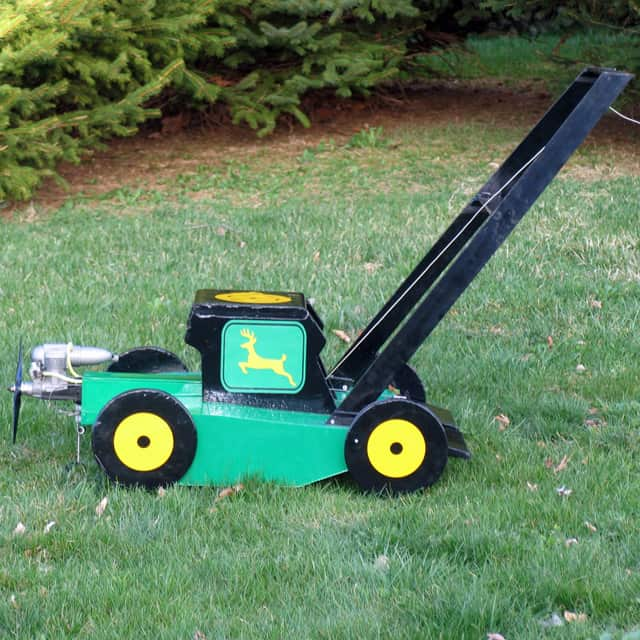 Sky Cutter The Flying Green Lawn Mower Funny RC