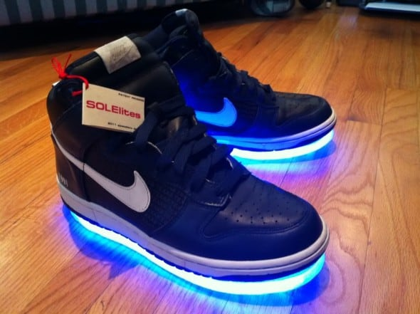 Solelites Custom Tron Glowing Shoes  Blue Nike Cool Stuff to Buy