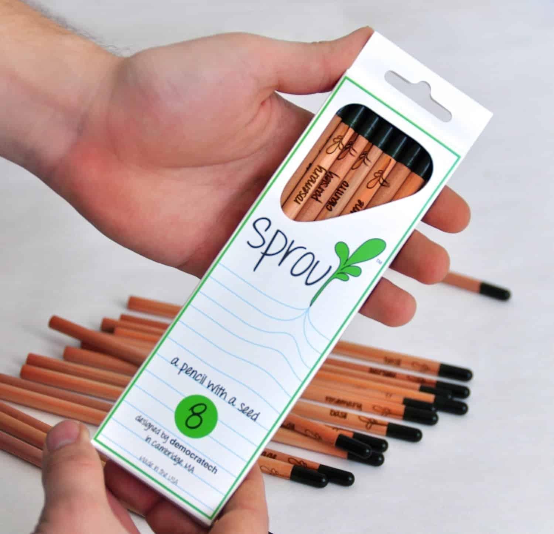 Sprout Pencil Herb Flower Vegetable Pack 8 Plant Varieties