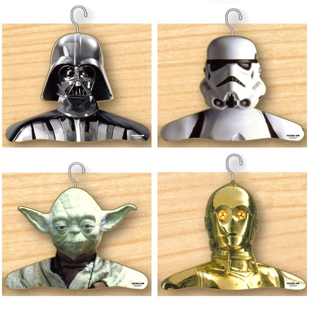 Star Wars Clothes Hangers Cool Geek Gift Wooden Plank Background
