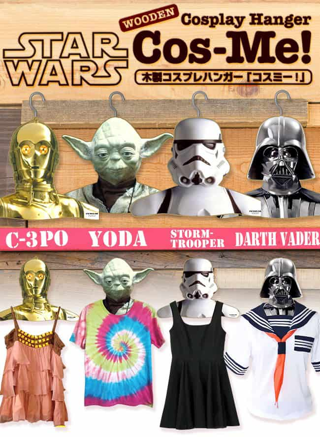 Star Wars Clothes Hangers Cosplay Hanger Lady C-3PO Tie Die Yoda Prom Queen Storm Trooper Japanese School Girl Darth Vader