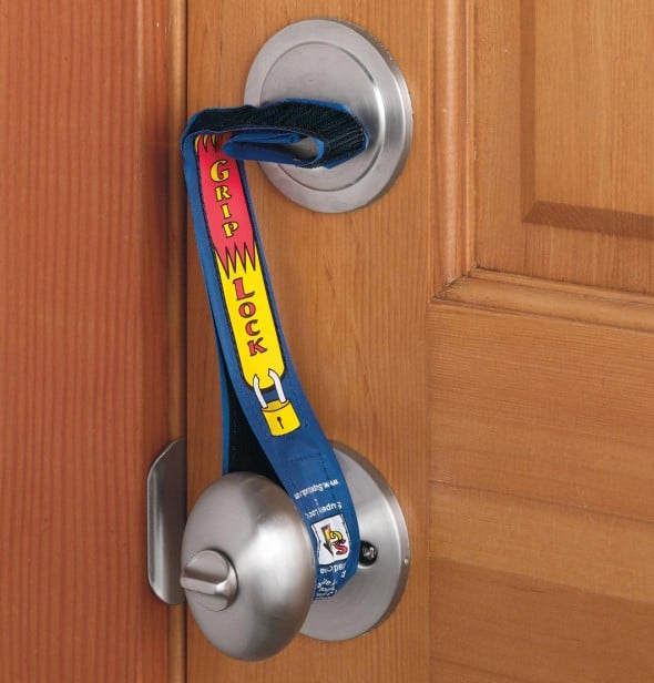 Super Grip Lock Deadbolt Security Strap Wooden Door