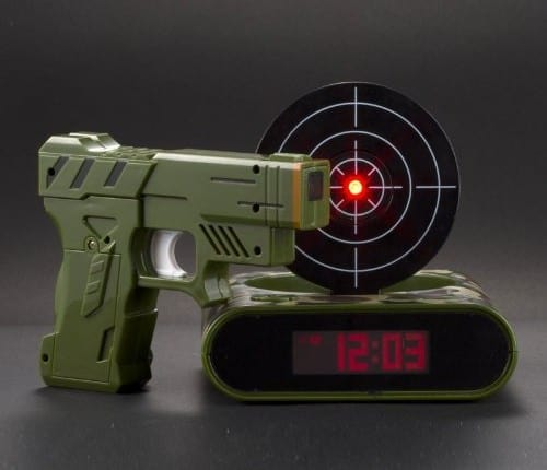 Target Gun Alarm Clock Army Green Version Fun Way to Wake Up