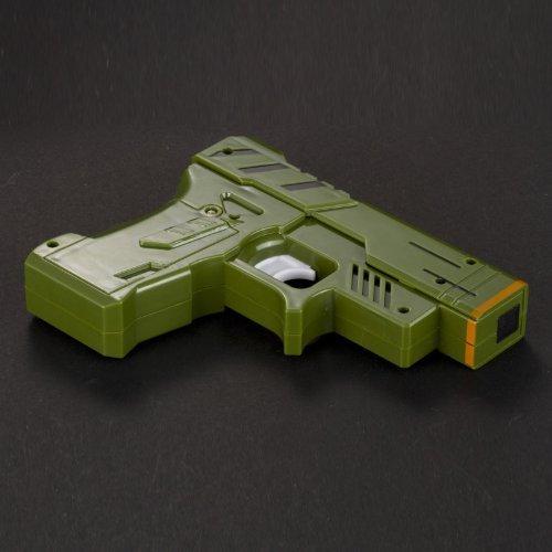 Target Gun Alarm Clock Green Plastic Gun