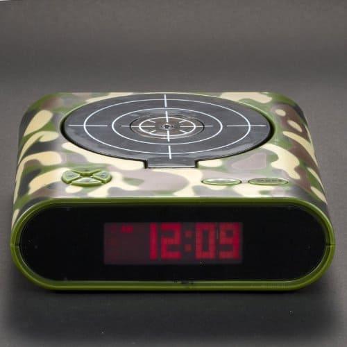 Target Gun Alarm Clock Novelty Piece Shooting Practice