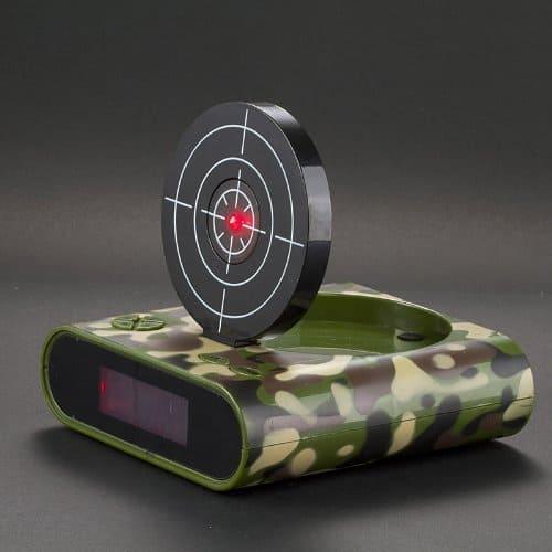 Target Gun Alarm Clock Red Light Target Camouflage Green
