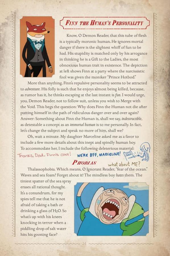 The Adventure Time Encyclopaedia (Encyclopedia) Finn the Humans Phobia Reaction