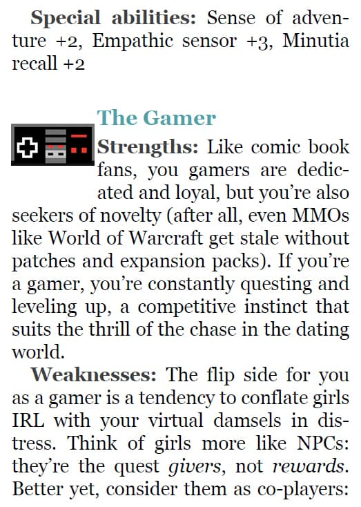 The Geeks Guide to Dating Geek Type the Gamer Page