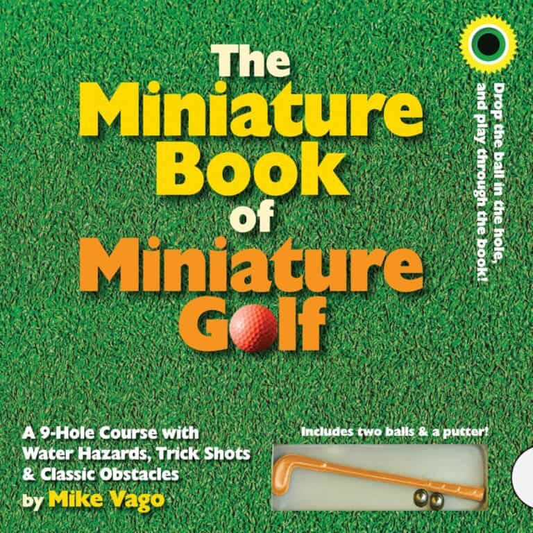 The Miniature Book of Miniature Golf 9 Hole Course Front Cover