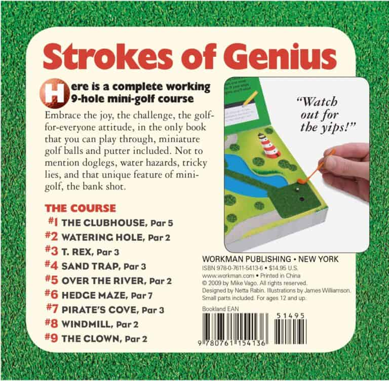 The Miniature Book of Miniature Golf Course Summary Back Cover
