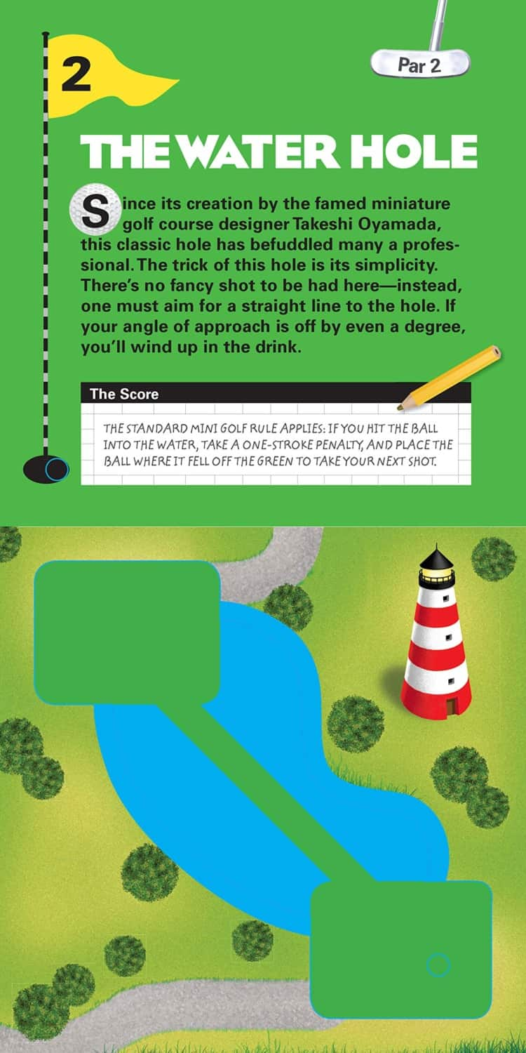 The Miniature Book of Miniature Golf Par 2 The Water Hole Page