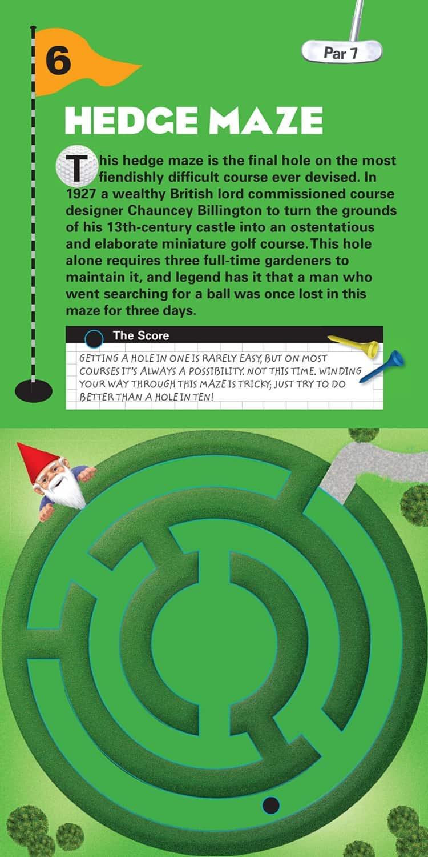 The Miniature Book of Miniature Golf Par 7 Hedge Maze