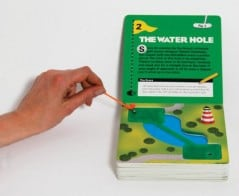 Your very own miniature golf course in a book.