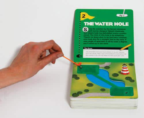 The Miniature Book of Miniature Golf The Water Hole Book Board Game