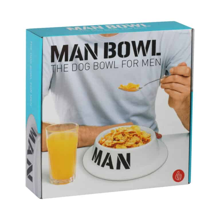 Thumbs Up! Man Bowl The Dog Bowl For Men Packaging Box Cool Gift for Dad