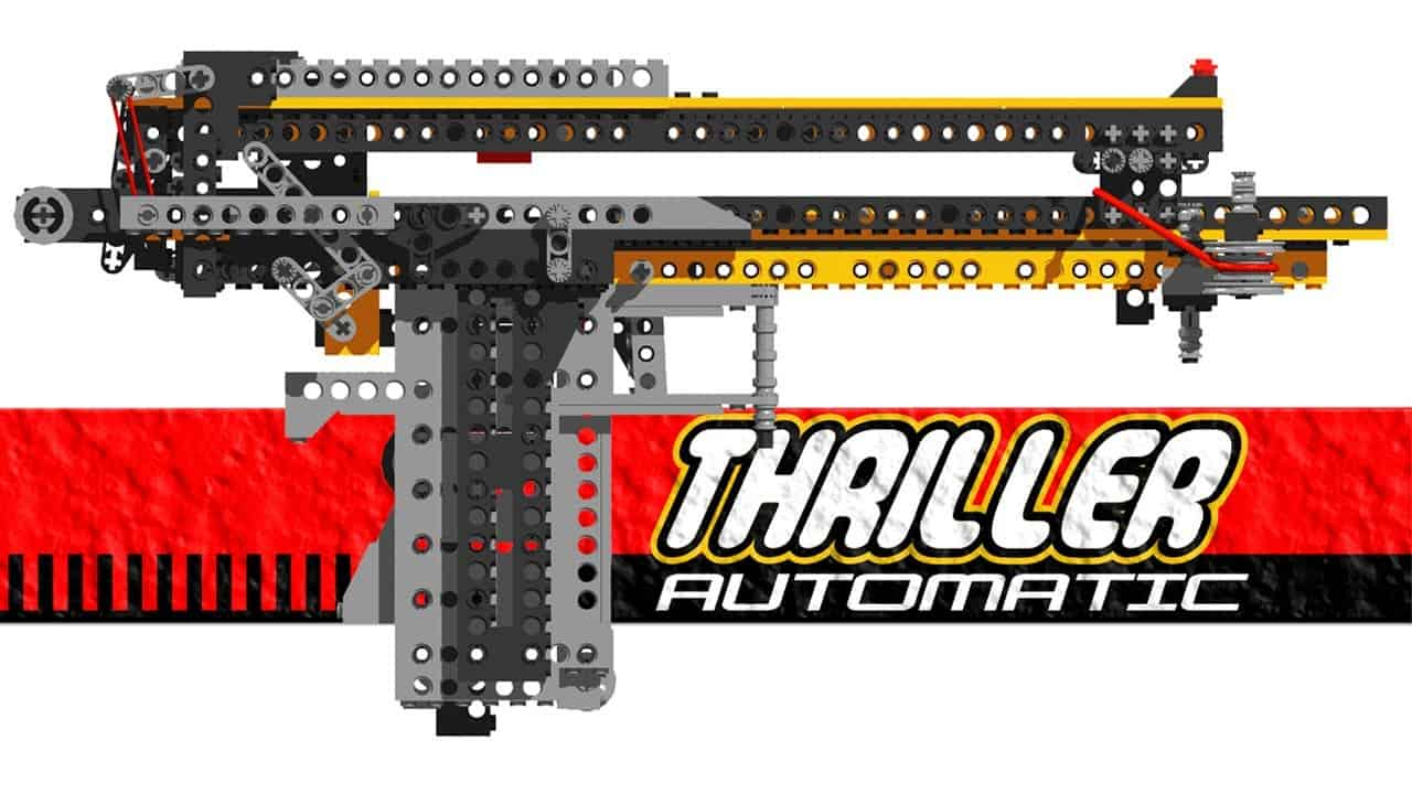 Weapons for Lego Lovers Thriller Automatic Gun