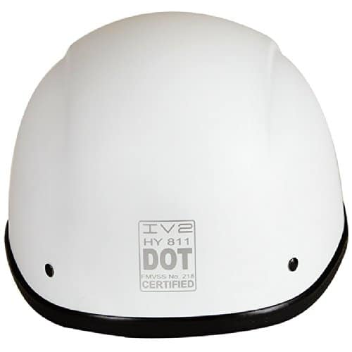 3D Skull Skeleton Matte White Rear View DOT Certified Helmet