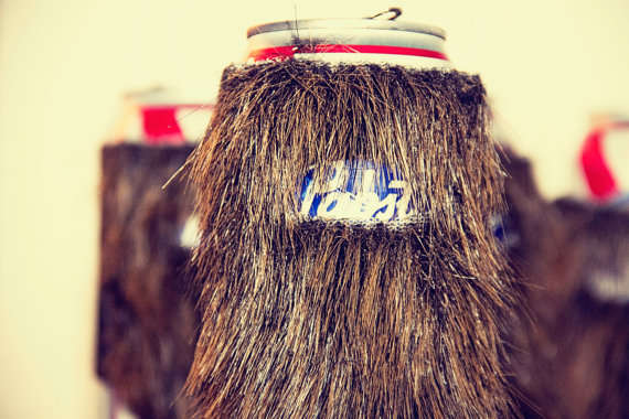 Beard Beer Can Koozie Funny Novelty Item Beard Gag Pabst