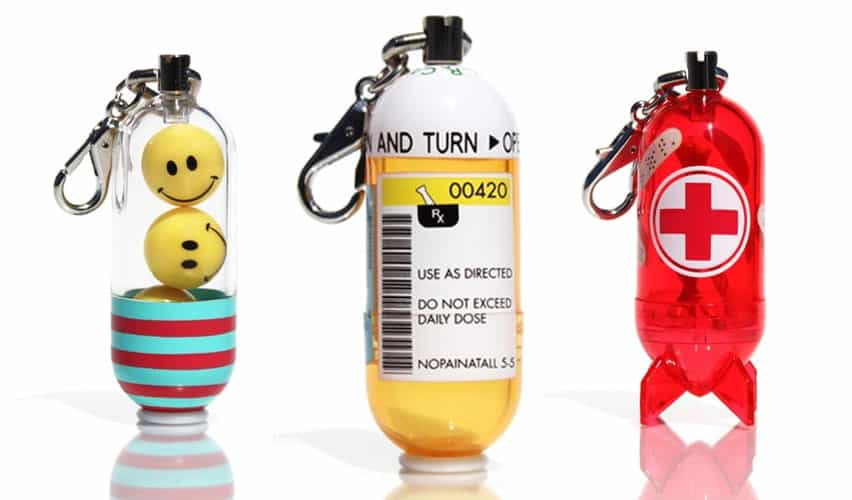 CAPSLs Collectible Designer Capsule Toys Happy Pill Daily Dose and Bones and Banaids Models