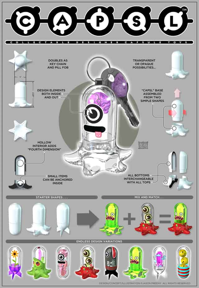 CAPSLs Collectible Designer Capsule Toys