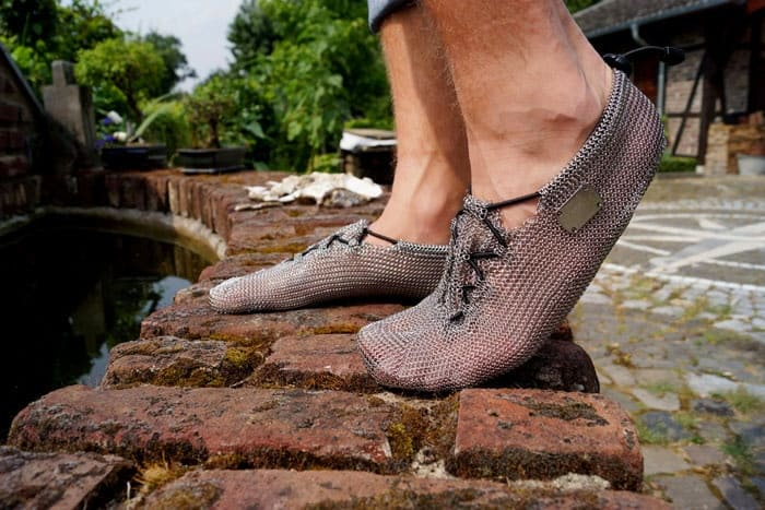 Chainmail Barefoot Shoes Bendable Footware Unique Product Comfortable Fashion