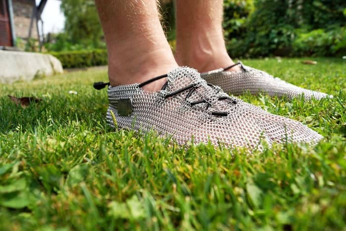 Chainmail Barefoot Shoes Weird Comfortable Footware Fashion