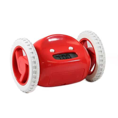 Clocky Alarm Clock Red and White Version Interesting Product