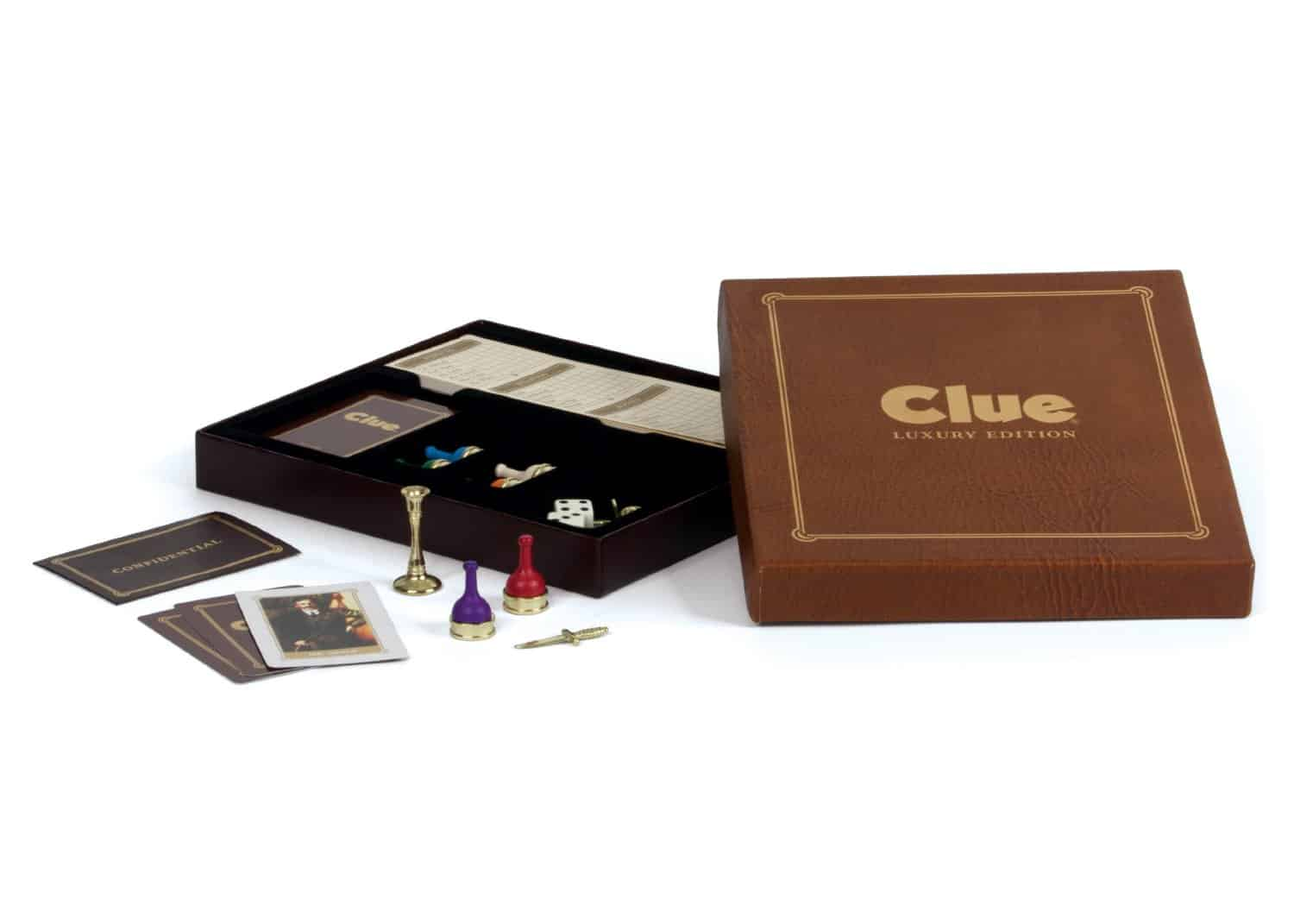 Clue Luxury Edition Box Packaging Gold Stamped Cards and Envelopes