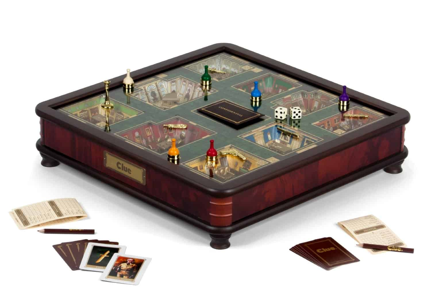 Clue Luxury Edition Interesting Product Cool Board Game Made of Wood Collectors Item