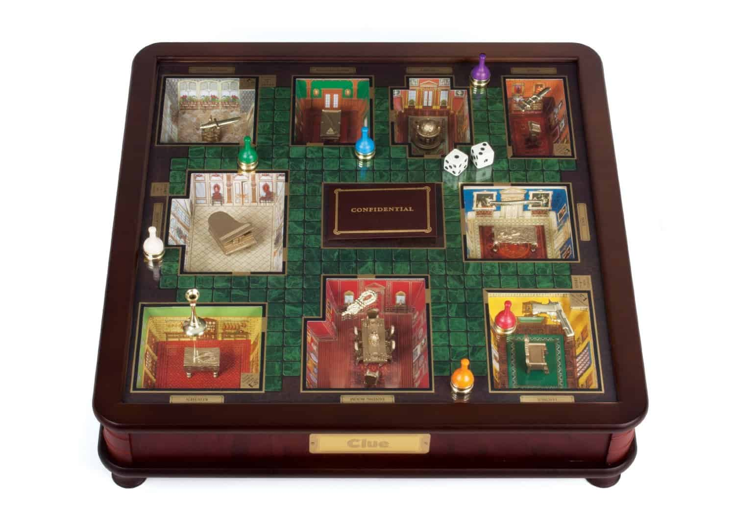 Clue Luxury Edition with 3d Rooms and Gold Plated Base Pieces