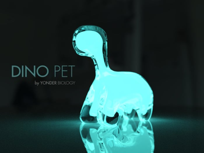 Dino pet Bio-luminescent Cute Eaasy to Maintain Glow in the Dark