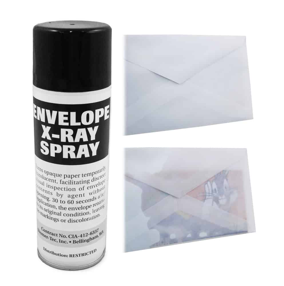 Envelope X-Ray Spray  See Through Paper Envelopes Documents Cool Spy Gear