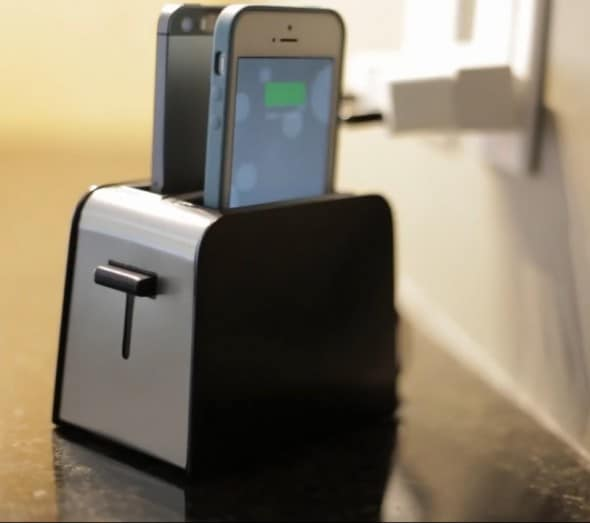 Foaster iPhone Dock Black Toaster Interesting Product