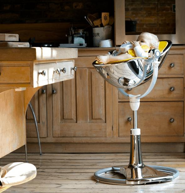 Fresco Chrome High Chair Noveltystreet