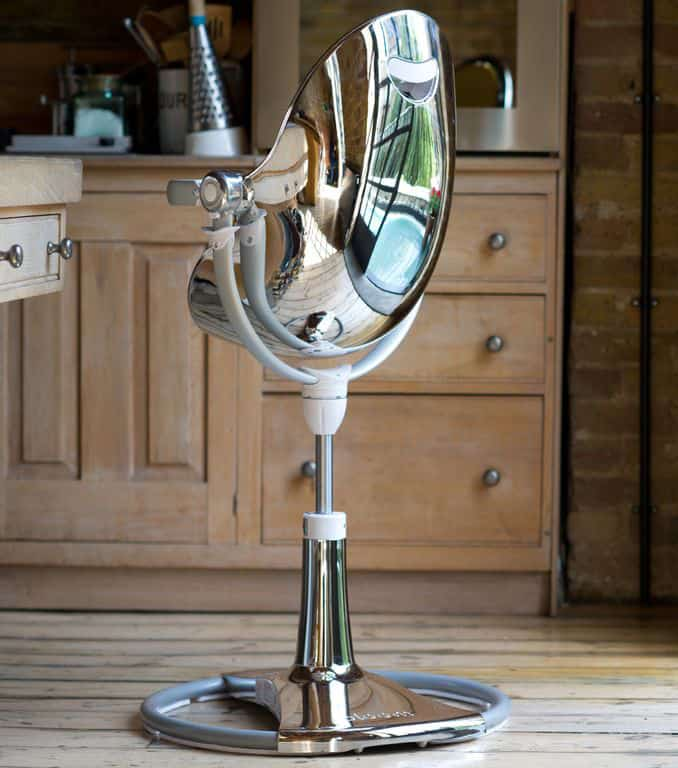 Fresco Chrome High Chair Shiny Chrome Sleek Back