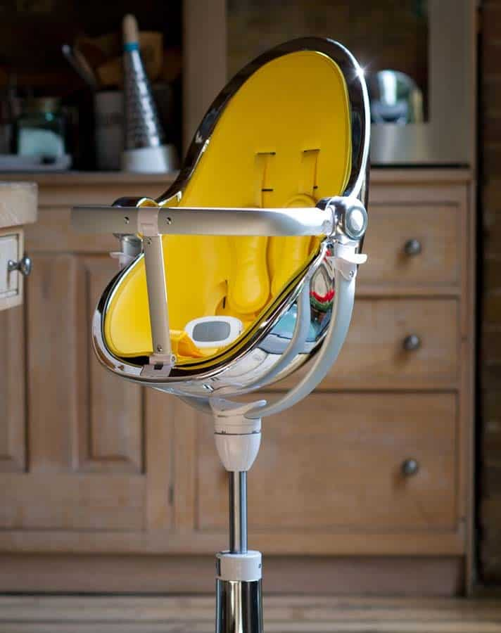 Fresco Chrome High Chair Yellow Padding Luxury Item