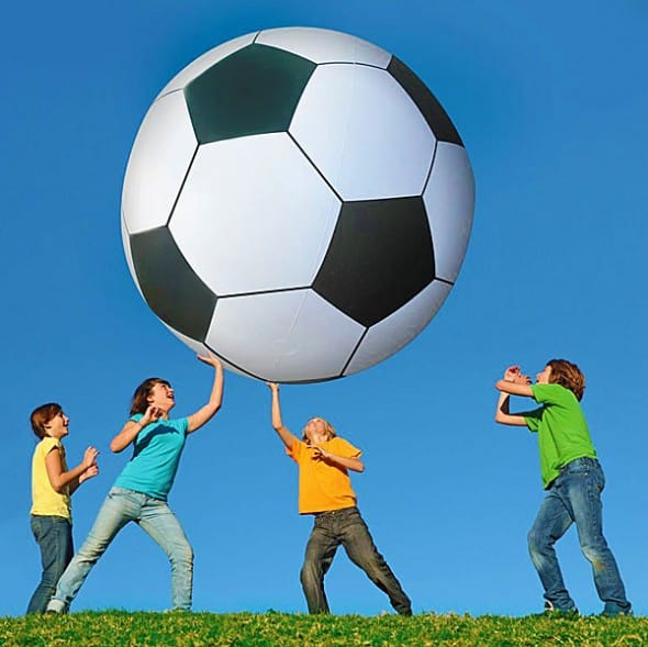 Giant Inflatable Soccer Ball Fun Outdoor Activity to Do 590x589 - A Gentleman's Guide to Gifting