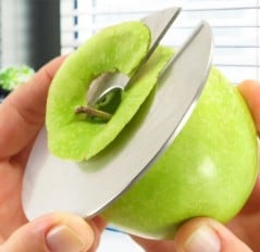 Always get those nice thin apple slices.