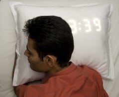 Alarm clock pillow that wakes you up when you snore!