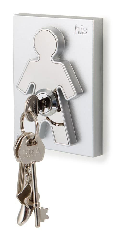 His and Hers Key Holders Man Icon with Key Living Room Design