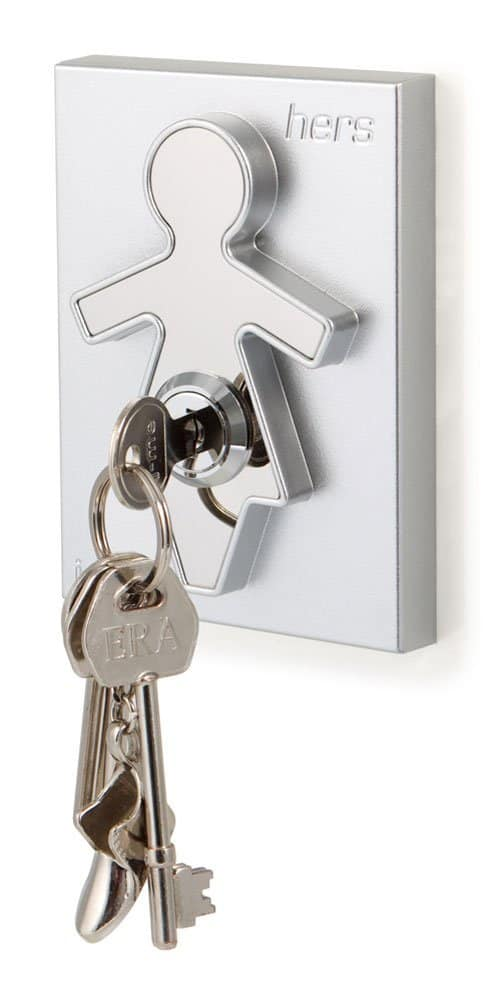 His and Hers Key Holders Woman Icon with Key Living Room Design