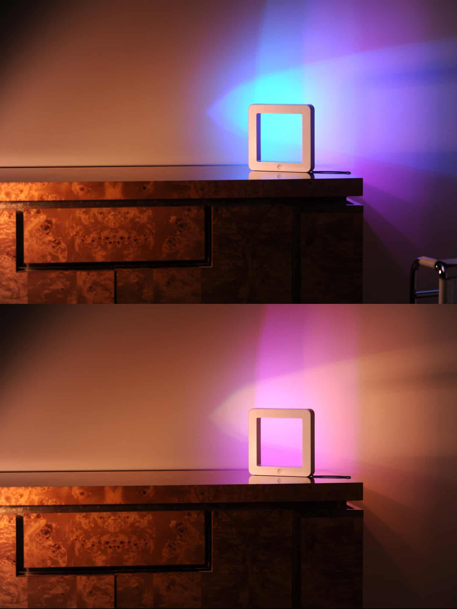 Holi The Smart Connected LED Mood Lamp  Cool Blue Light Mystical Violet Hue