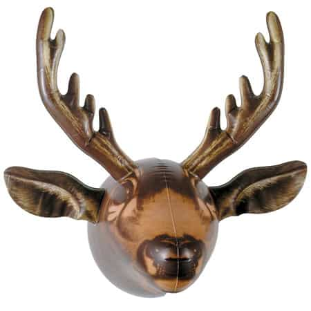 Inflatable Moose Head Hanger Funny Gift Idea Golden Horns