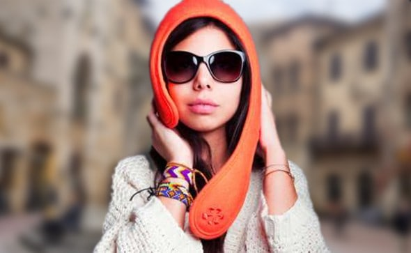 Lou Mistraou Winter Hat Orange Chic Fashion Wear