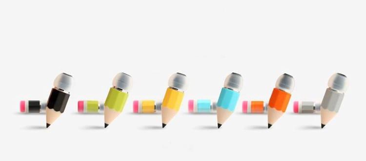 Magic Pencil Earphones  Assorted Colors Goofy Stuff