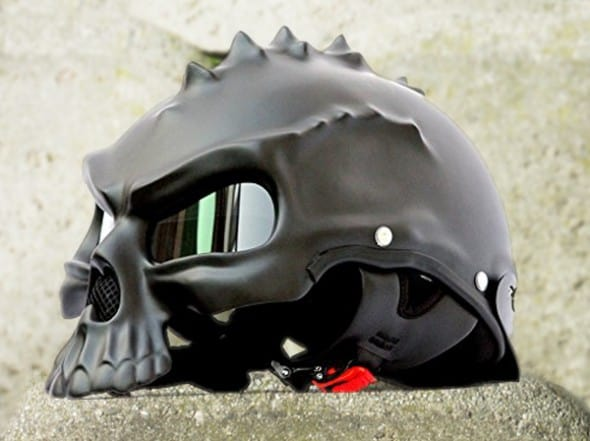 Masei Matt Black 3D Skull Helmet Fiber Glass Novelty Item to Buy