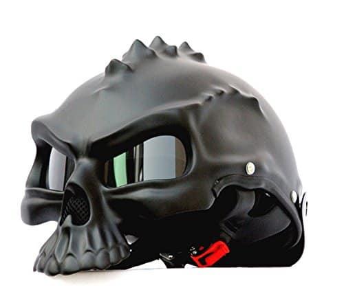 Masei Matt Black 3D Skull Helmet Harley Chopper Accesory Ganster Look