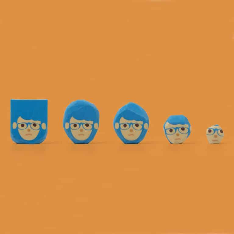 Megawing Rubber Barber Eraser Blue Guy