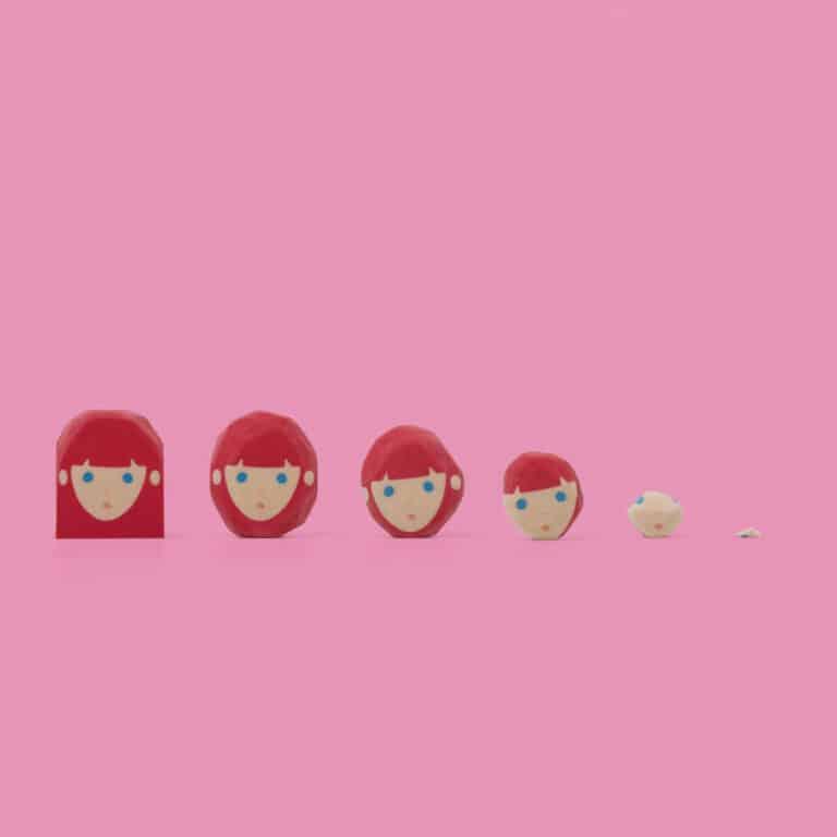 Megawing Rubber Barber Eraser Pink Girl
