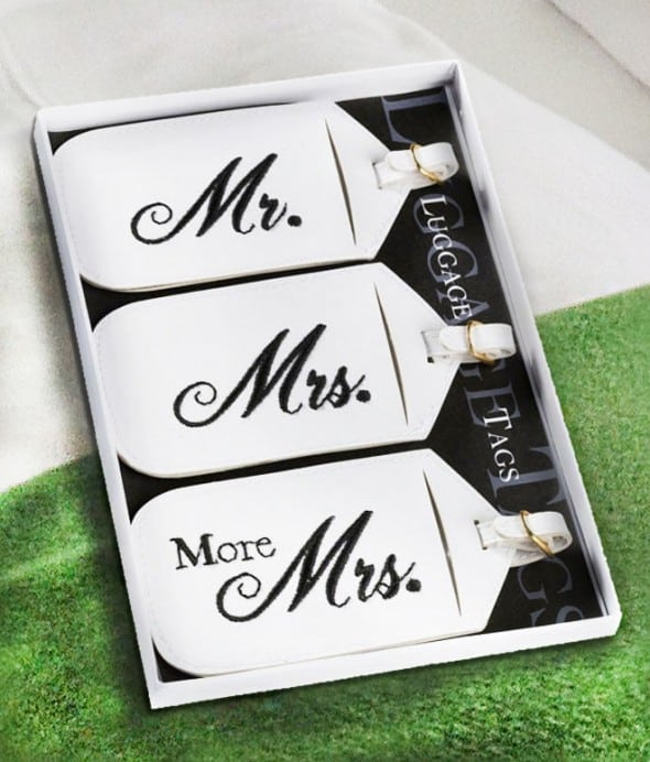 The only luggage tags that understands the Mrs.